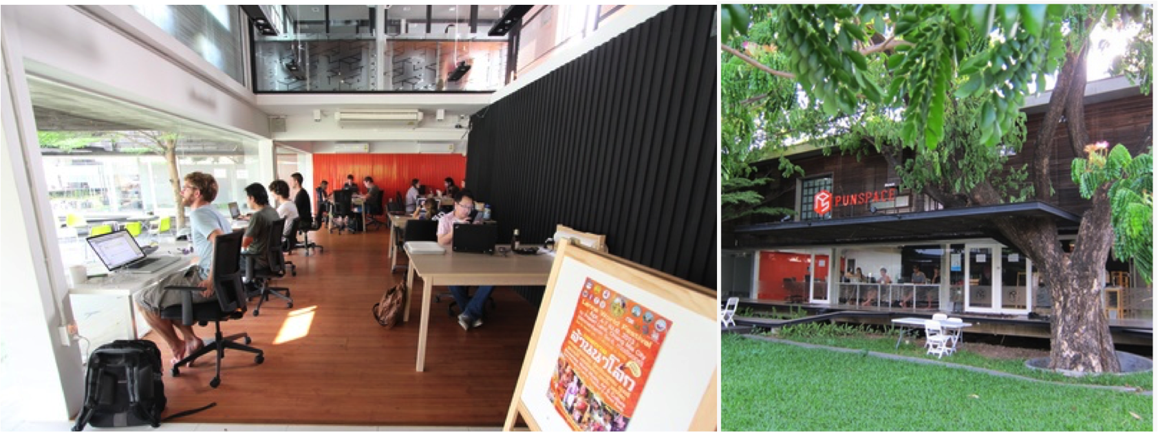 Punspace - coworking space in Chiang Mai.
